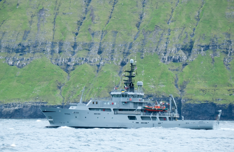 Faroese fishery patrol and S&R vessel Brimil